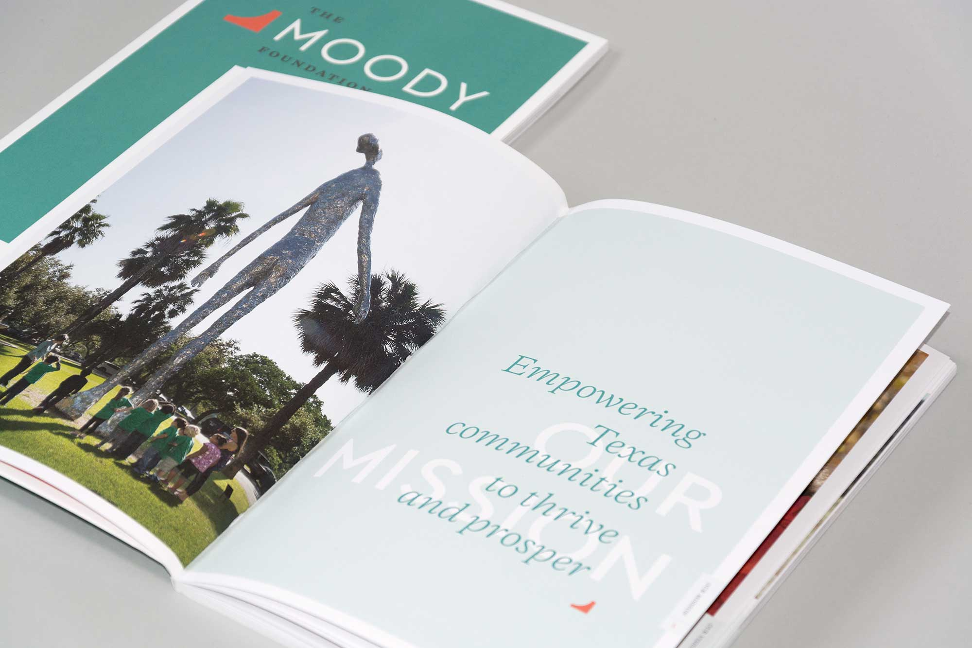 Moody Foundation Annual Report section title spread